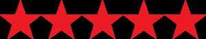 5 red stars | Pupford